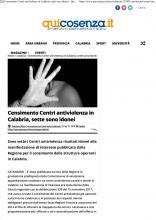 Censimento Centri antiviolenza in Calabria, sette sono idonei